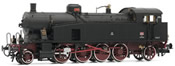 Italian Steam Locomotive Gr. 940 of the FS with oil lamps