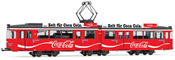 Tram, DUEWAG GT6, Coca-Cola, red livery