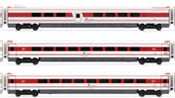 Set of 3 additional coaches for Italian ETR 480 of the FS; original livery