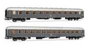 Italian coach set type UIC-X of the FS; 1st-2nd class grey livery with red stripe