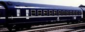 Italian sleeping car MU 1973 of the FS; TEN livery, inclined logo