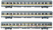 3pc 2nd Class Passenger coaches type UIC-Z