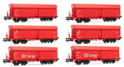 German 6-unit hopper car set type Fals164 of the DB-AG