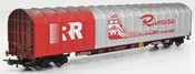 "4-axle covered Tarpaulin wagon, FS type Rils, special ""Rivarossi"" livery"