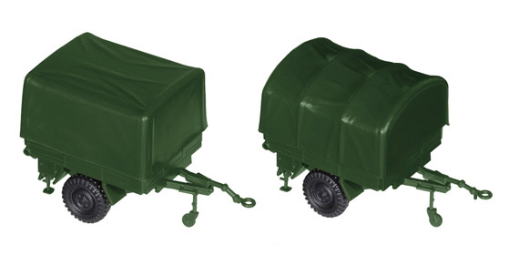 Roco 05135 - Trailer 1,5t flatbed with canvas