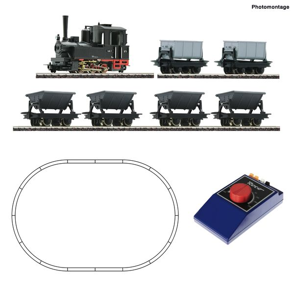 Roco 31035 - Analogue start set: Light railway steam locomotive and lorry train