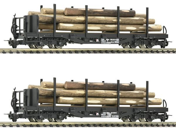 Roco 34582 - 2 piece set: Stake wagons