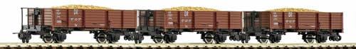 Roco 34599 - 3-piece set potato wagon of the DR
