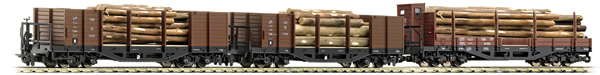 Roco 34609 - Austrian 3 Piece Wood Transport Set of the OBB