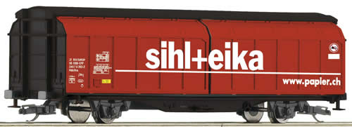 Roco 37543 - Sliding wall wagon Sihl-Papier, SBB