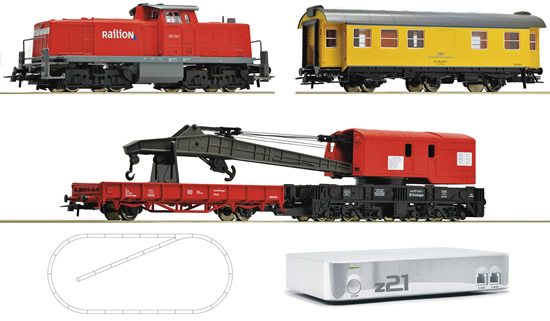 Roco 41502 - Digital starter set z21 diesel locomotive locomotive series 294 of the DB AG with construction train