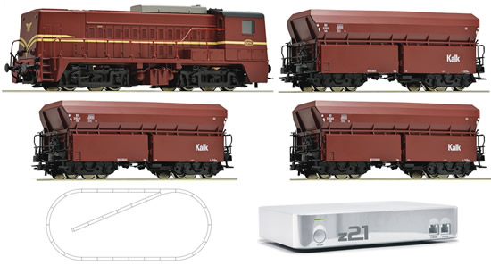 Roco 41504 - Digital starter set z21 diesel locomotive series 2200 of the NS with freight train