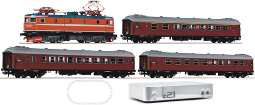 Roco 41509 - z21 Digital Starter Set: Rc5 w. 3 x Passenger Cars