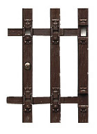 Roco 42600 - Wood Sleeper End Pieces 12pc.
