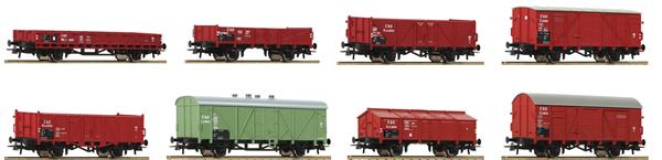 Roco 44001 - 8pc Freight Wagon Set