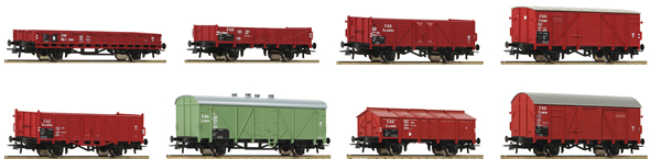 Roco 44001 - 8pc Freight Car Ser