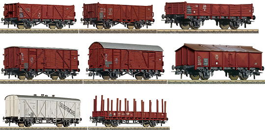 Roco 44002 - German 8 Piece Freight Car Set of the DB