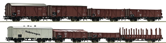 Roco 44003 - German 8 Piece Freight Car Set of the DRG