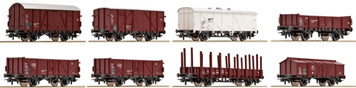 Roco 44006 - Austrian 8 Piece Freight Car Set of the OBB