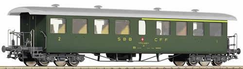 Roco 45095 - Type ABi 1st/2nd Class Seetal Wagon w/ Silver Roof