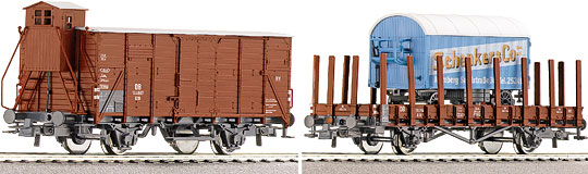 Roco 45955 - 2-piece set freight cars of the DB
