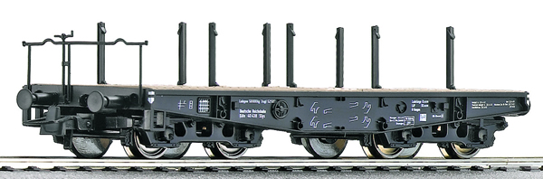Roco 46385 - German Heavy duty flat wagon of the DRG
