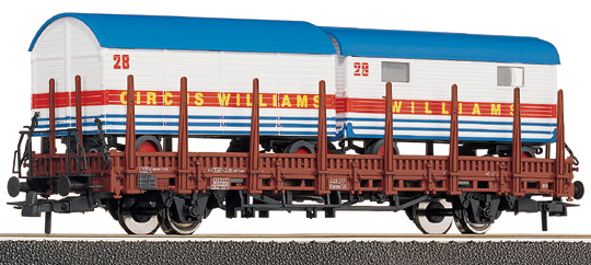 Roco 47628 - Stake Wagon Loaded with Circus Models