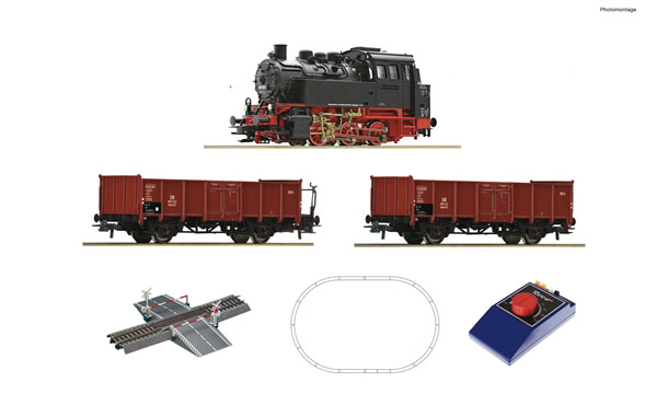 Roco 51160 - Analogue start set: German Steam locomotive class 80 with goods train of the DB