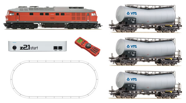 Roco 51288 - German Digital Starter Set with Diesel Locomotive BR 232 and Tank Car Train of the DB-AG