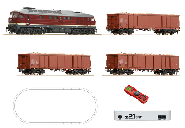 Roco 51292 - German Digital Starter Set z21 with Diesel Locomotive BR 132 and Goods Train of the DR