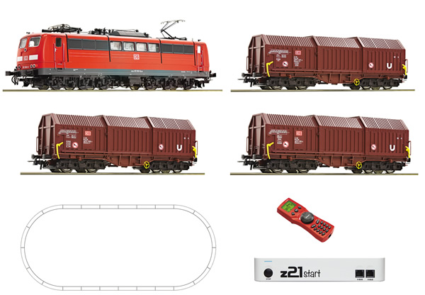 Roco 51293 - German Digital Starter Set z21 with Electric Locomotive BR 151 and Goods Train of the DB-AG