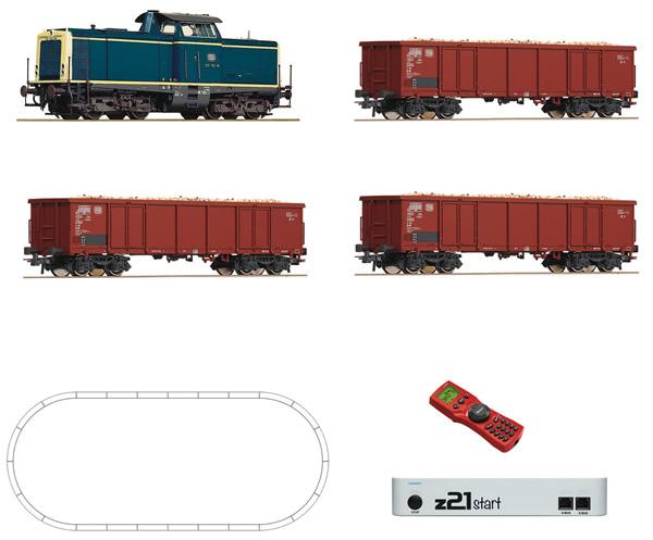 Roco 51299 - Digital z21® start Set: Diesel locomotive BR 211 with beet train of the DB