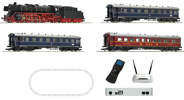 Roco 51308 - Mega Roco Line Digital Starter with BR 01, Passenger Cars & Two Digital Systems