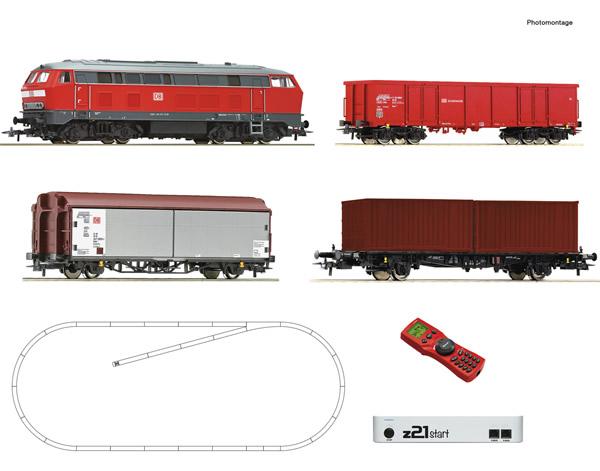 Roco 51312 - z21® start Digitalset: Diesel locomotive class 218 with wagon train
