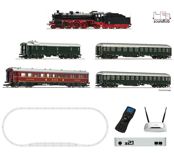 Roco 51313 - z21® Digitalset: Steam locomotive class 18.6 with fast train