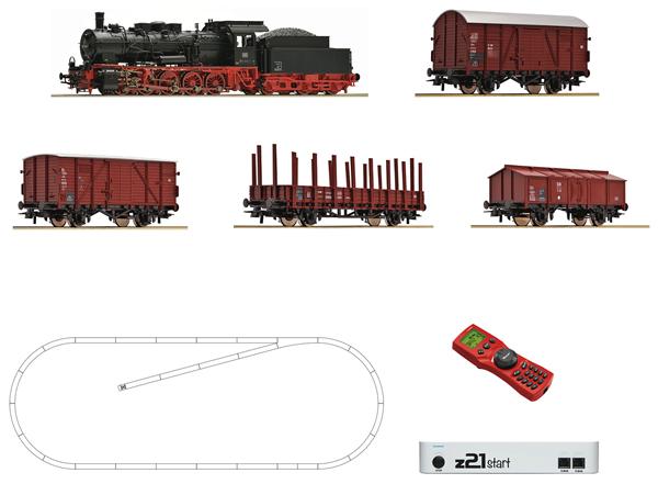 Roco 51318 - Digital Starter Set z21: Steam Locomotive Class 057 and goods train of the DB