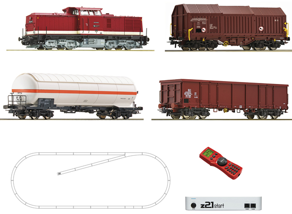 Roco 51321 - Digital Starter Set z21: Diesel Locomotive Class 114 and goods train of the DR