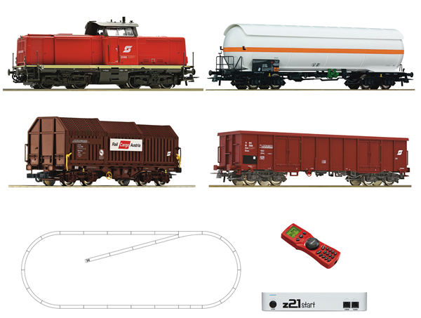 Roco 51322 - Digital Starter Set z21: Diesel Locomotive Class 2048 and goods train of the ÖBB