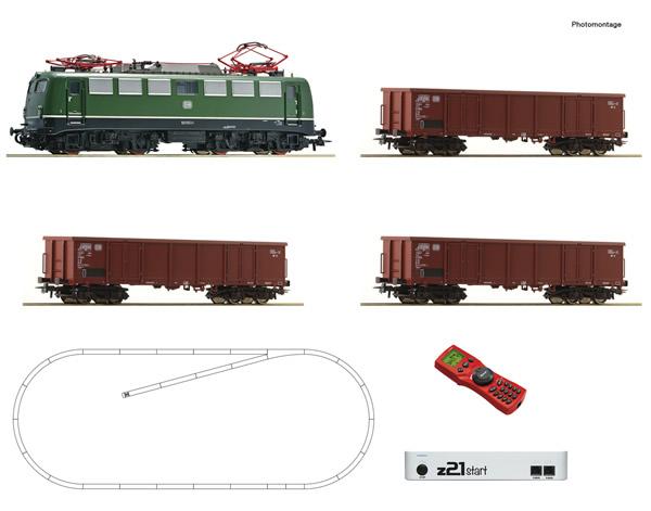 Roco 51330 - z21 start digital set: German Electric locomotive class 140 with goods train of the DB