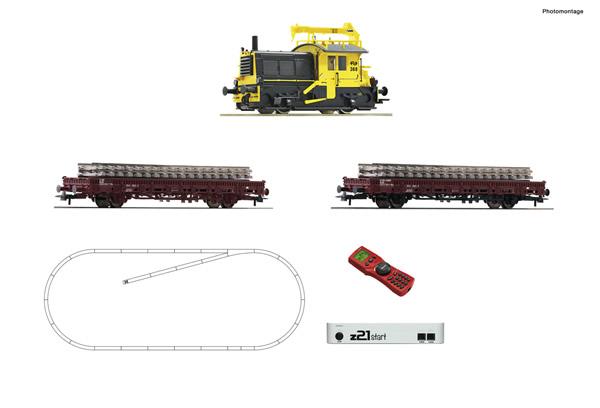 "Roco 51333 - z21 start digital set: Dutch Diesel locomotive ""Sik"" with track maintenance train of the NS (Sound)"