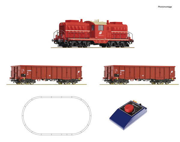 Roco 51334 - Analogue start set: Austrian Diesel locomotive class 2045 with goods train of the OBB
