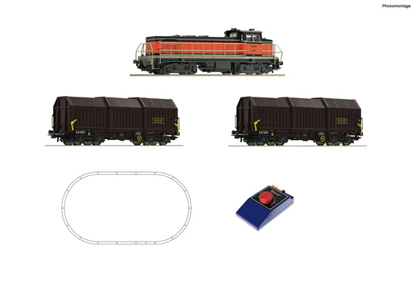 Roco 51335 - Analogue start set: French Diesel lovomotive BB 63000 with goods train of the SNCF