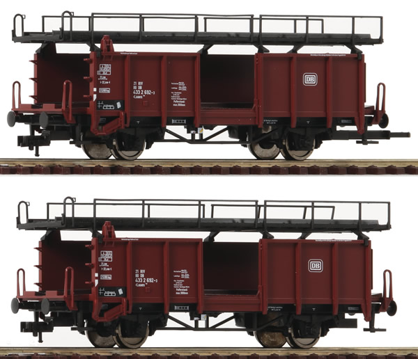 Roco 522401 - German Car carrier wagon Set of the DB