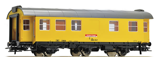Roco 54294 - German Living and Sleeping Car for Construction Trains of the DB-AG