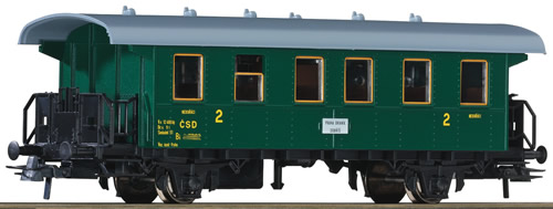 Roco 54335 - Czechoslovakian 2nd Class Passenger Carriage of the CSD
