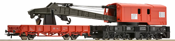 Roco 56240 - German Crane Care with Barrier Wagon of the DB-AG