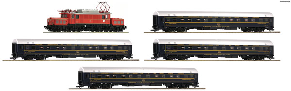 Roco 61470 - Austrian Electric locomotive class 1020 and 4 sleeping cars of the ÖBB (DCC Sound Decoder)