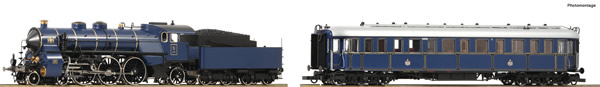 "Roco 61473 - German Steam locomotive S 3/6 and ""Prinzregenten"" Car of the K.Bay.Sts.B. (DCC Sound Decoder)"