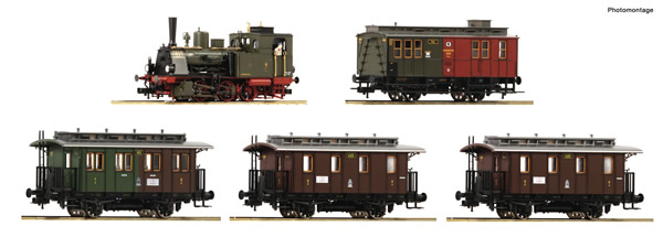 Roco 61475 - German Steam locomotive T3 and 3 passenger car Set of the KPEV
