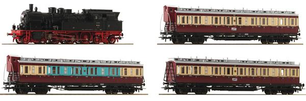 """Roco 61478 - 4 piece set: """"Ruhr Schnellverkehr"""" of the DRG (DCC Sound Decoder)"""